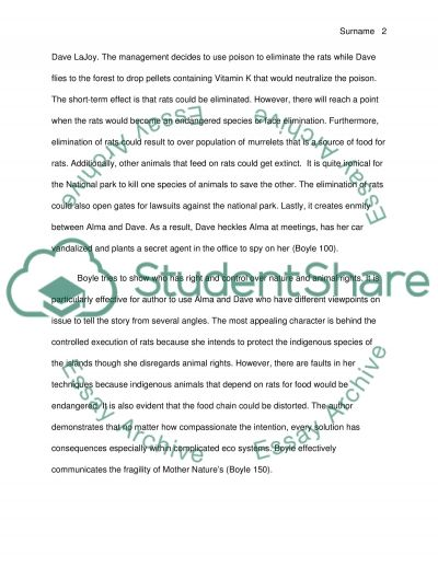 response paper on a novel essay example - Novel Essay Example