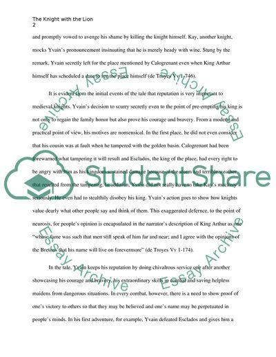 yvain essay topics