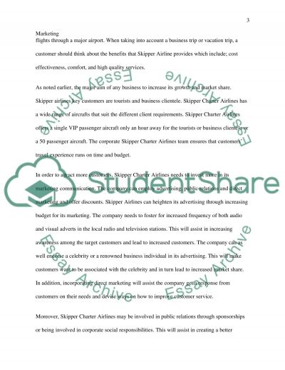 Skipper Charter Airline essay example