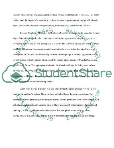 Essay on residential schools