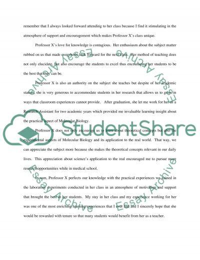 Letter reference former prof