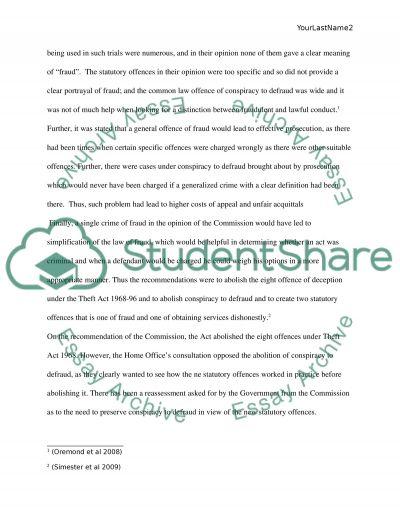Criminal Law essay example