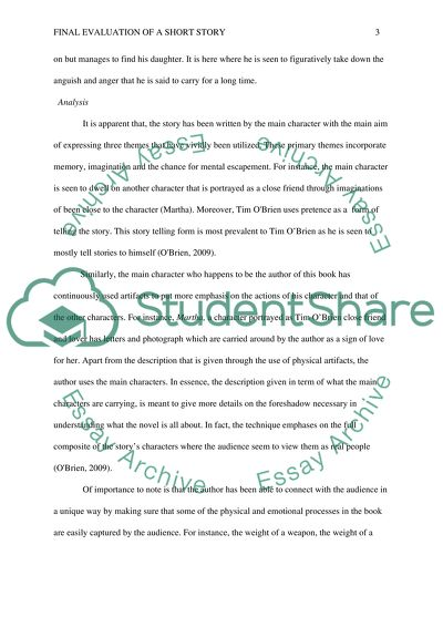 Final on Evaluation of an Short Story