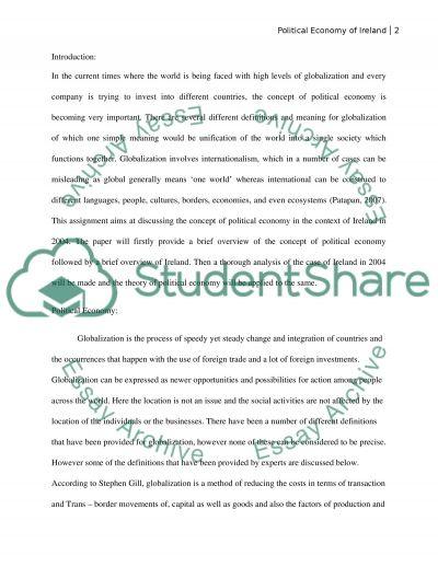 International business environment essay example