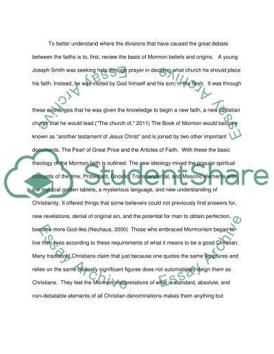 A Matter of Faith: Is Mormonism Christian essay example