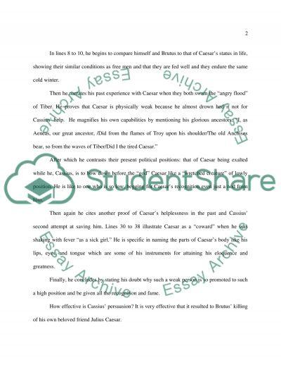 William Shakespeares Julius Caesar essay example
