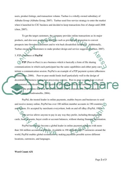 Introduction To E-Business essay example