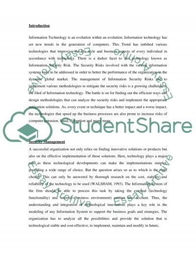 Discuss how security requirements can be linked to business requirements essay example