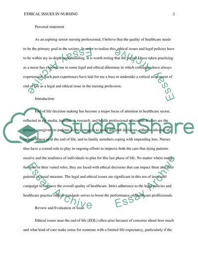 end of life essay topics