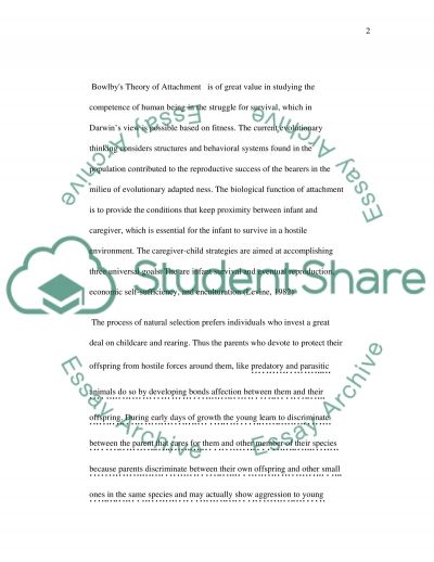Attachment and Their Role in Intergenerational Continuity essay example