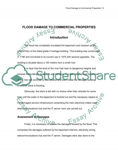 FLOOD DAMAGE TO COMMERCIAL PROPERTIES