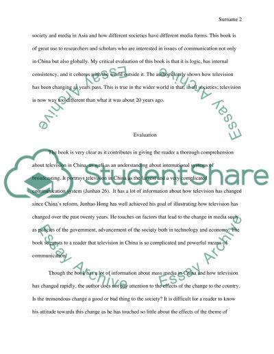 Book Review essay example