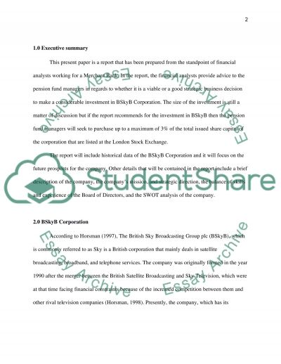 Financial analysis of bSKYb 2012(only profitability ratio analysis part see instruction) essay example