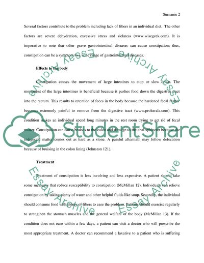 Gastrointestinal Diseases Research Paper
