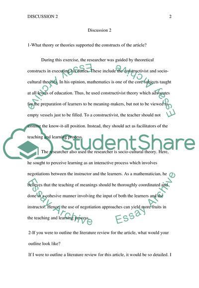 Homework/Discussion 2