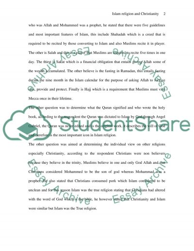 Islam religion and christianity essay example