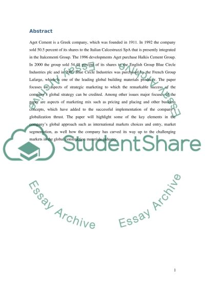 Global Business Strategy essay example