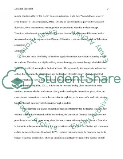 Distance Education essay example