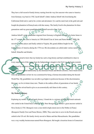 Family History Essay Example  Topics And Well Written Essays    Family History Scientific Writing Services Company also Thesis Statement For Analytical Essay  Write My Essay Paper
