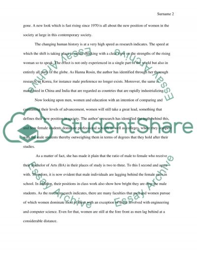 New position of women Essay example