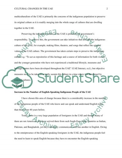 changes in uae culture essay example topics and well written  changes in uae culture essay example