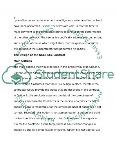 NEC ECC Contracts Assignment example