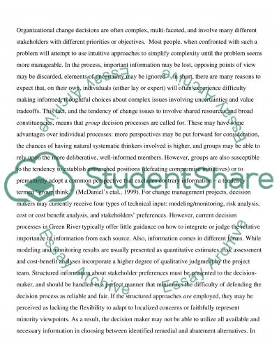 FMC Green River case study Organizational Behavior essay example