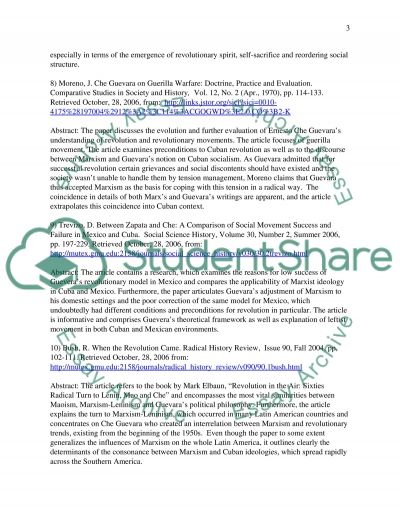 annotated bibliography che guevara essay example topics and well  annotated bibliography che guevara essay example text preview