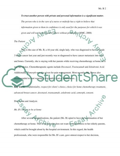 Care for a Patient undergoing Chemotherapy essay example