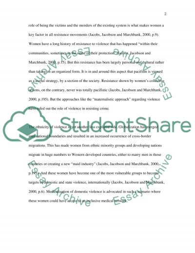 Essay on Resistence directly