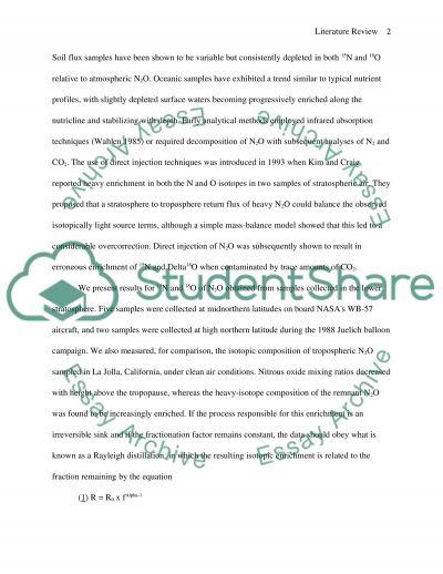 Nitrous Oxide essay example