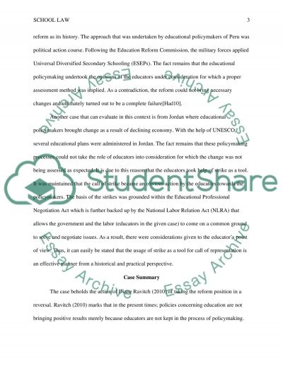 School Law and Public Policy essay example