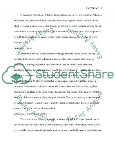 Halperns View essay example