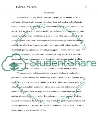 Final research project proposal outline essay example