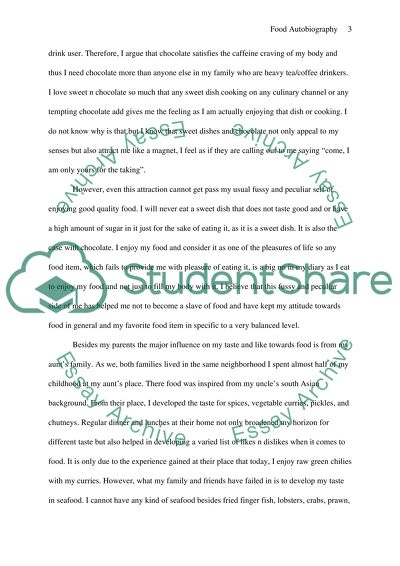 food autobiography essay example  topics and well written essays