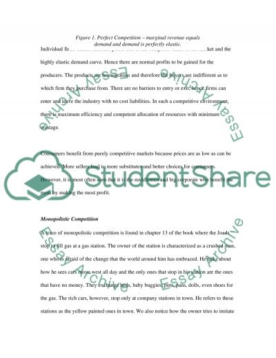 Market Structures Analyses essay example