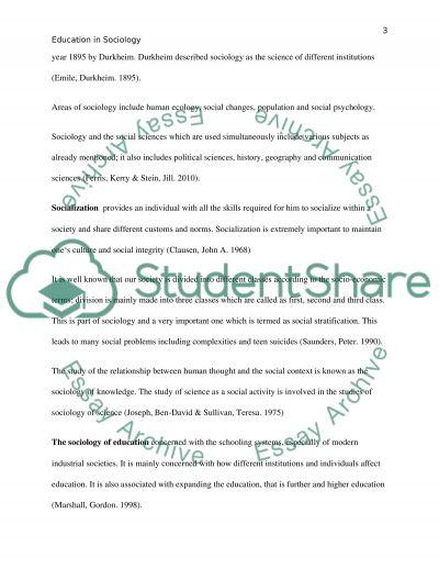 Education in Sociology