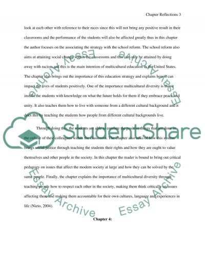 Chapter Reflections Education Essay