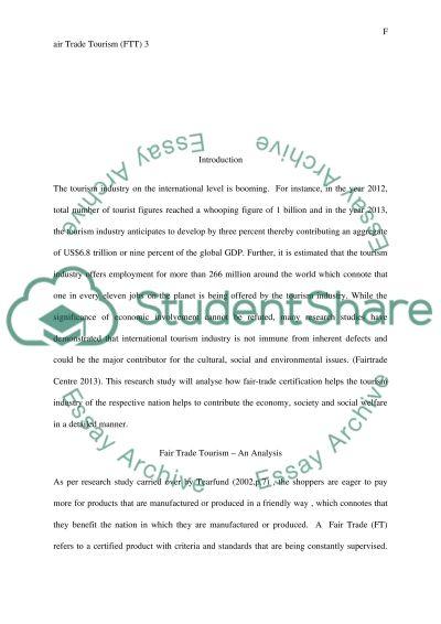 Fairtrade essay example