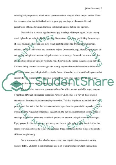 Gay Marriage Essay Example  Topics And Well Written Essays    Gay Marriage