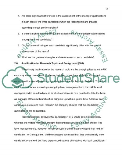 Research proposal LBSRE2002 Research Methods for Business