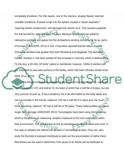 Environmental toxicology essay example