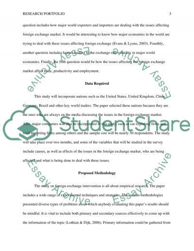 Research Portfolio essay example