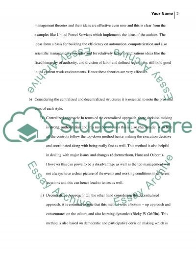 Exam two essay example