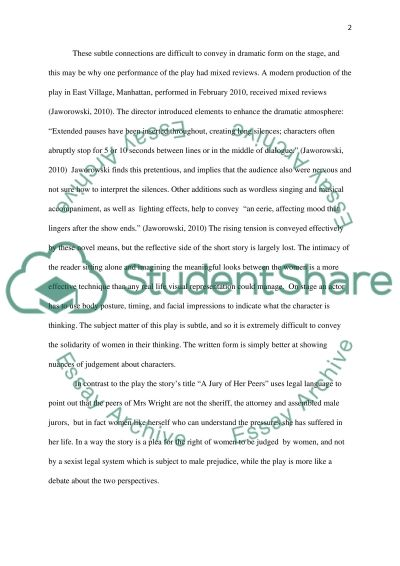 Tuck Everlasting Essay Trifles And A Jury Of Her Peers Personal Narrative Essay Examples also Qualities Of A Great Leader Essay Trifles And A Jury Of Her Peers Essay Example  Topics And Well  Essays On Movies