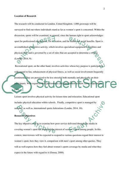 sport dissertation examples