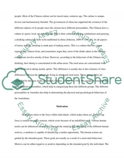 Consumer Behaviour in China Essay example