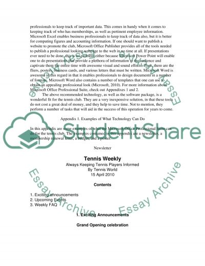 Business Technology essay example