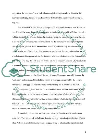 Cathedral Essay example