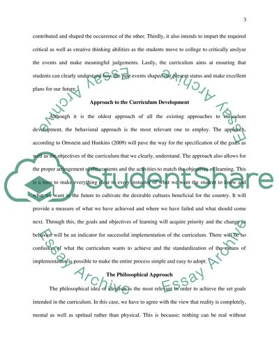 Curriculum Foundations